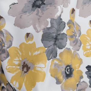 yellow gray country curtains on sale custom drapes