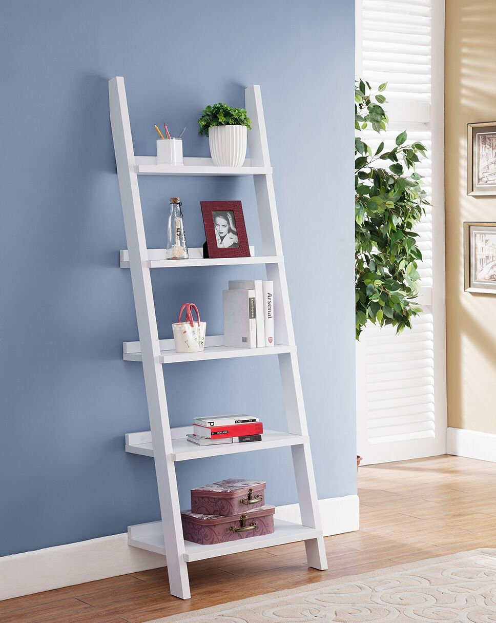 Ladder Bookcase - White