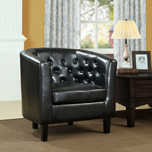Load image into Gallery viewer, Chance Faux Leather Chair - Black