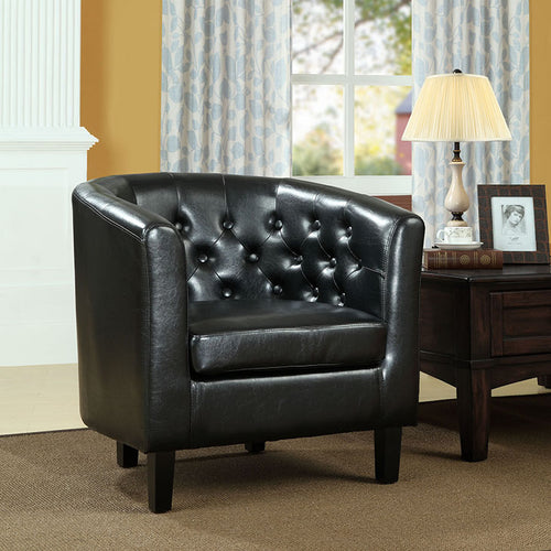 Chance Faux Leather Chair - Black