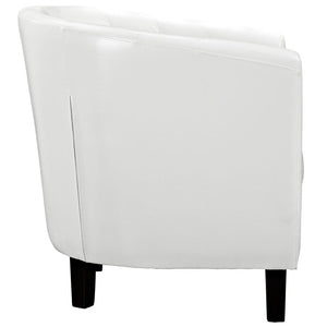 Chance Faux Leather Chair - White