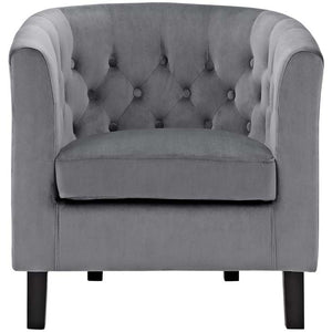 Chance Velvet Chair - Gray