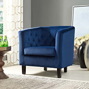 Chance Velvet Chair - Navy