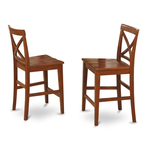 Brown Pub Stools - Set of 2