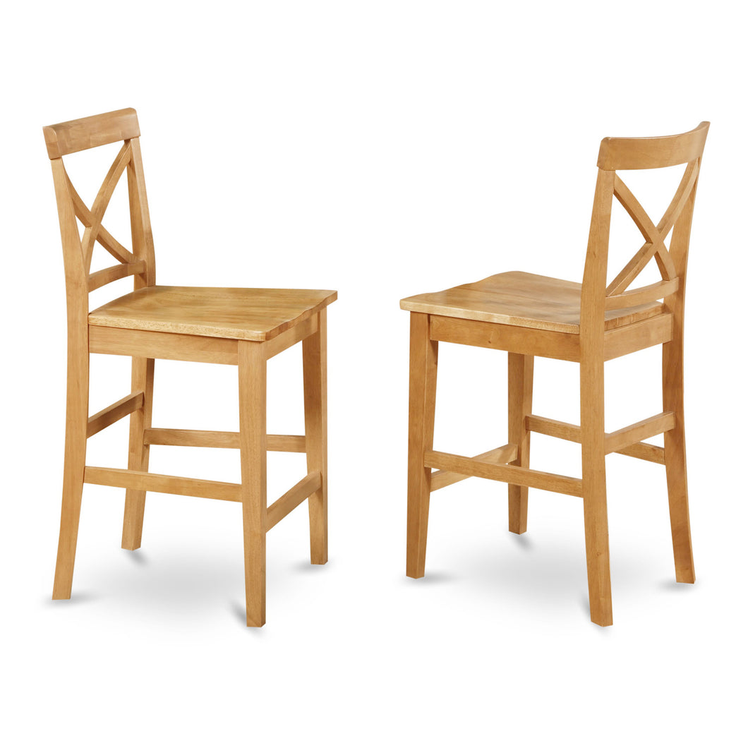 Oak Pub Stools - Set of 2