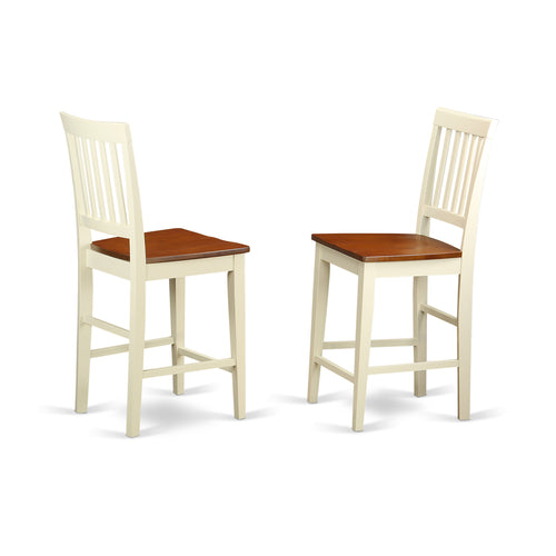 White Pub Stools - Set of 2