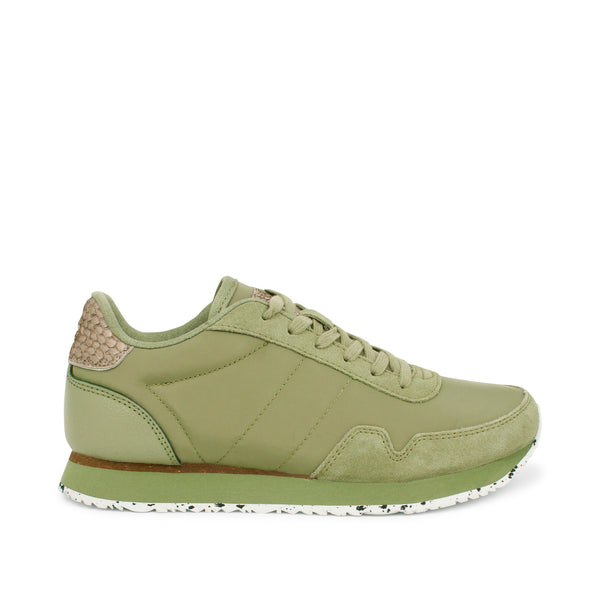 WODEN Nora III Leather Sneakers 306 Dusty Olive