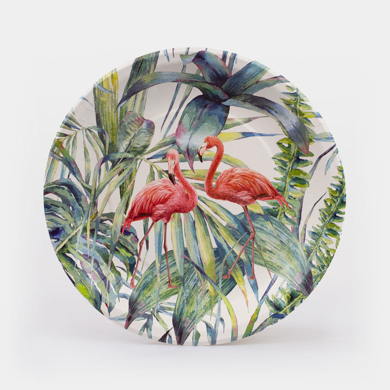"Flamingo Paper Plates 10.5"" - 8ct"