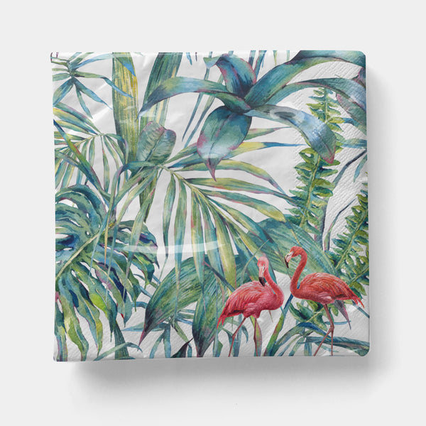 "Flamingo Napkin, Cocktail 5"" x 5"" - 20ct"