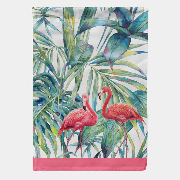 "Flamingo Garden Flag 18"" x 12.5"""