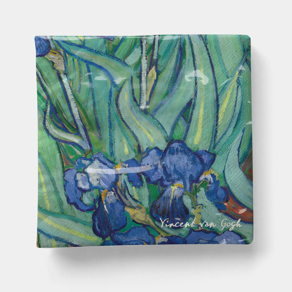 "Van Gogh - Irises Napkin, Cocktail 5"" x 5"" - 20ct"