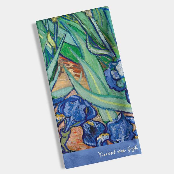 "Van Gogh - Irises Napkin, Hostess 8"" x 4.4"" - 12ct"