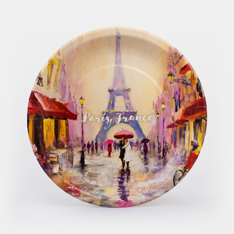 "Paris, France Paper Plates 10.5"" - 8ct"