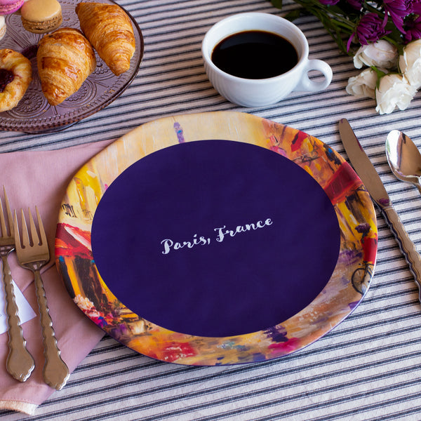 Paris, France Melamine Dinner Plate 10.5""