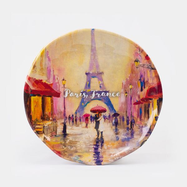 Paris, France Melamine Salad Plate 8.5""