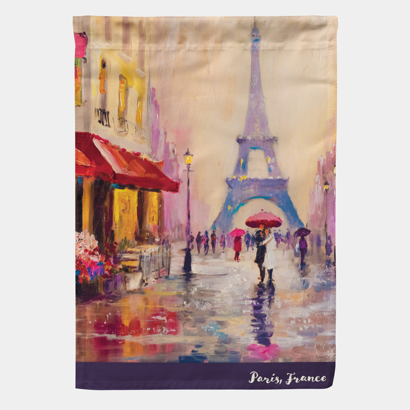 "Paris, France Garden Flag 18"" x 12.5"""