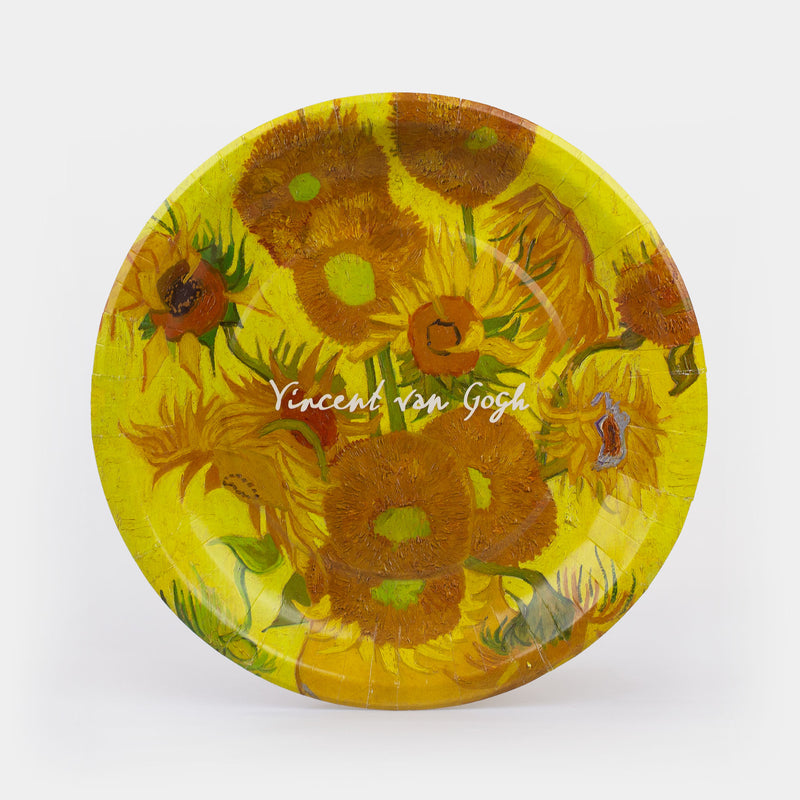 "Van Gogh - Sunflowers Paper Plates 10.5"" - 8ct"