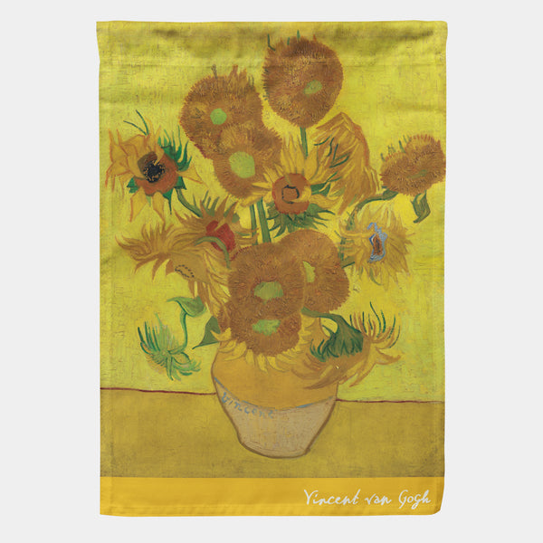 "Van Gogh - Sunflowers Garden Flag 18"" x 12.5"""