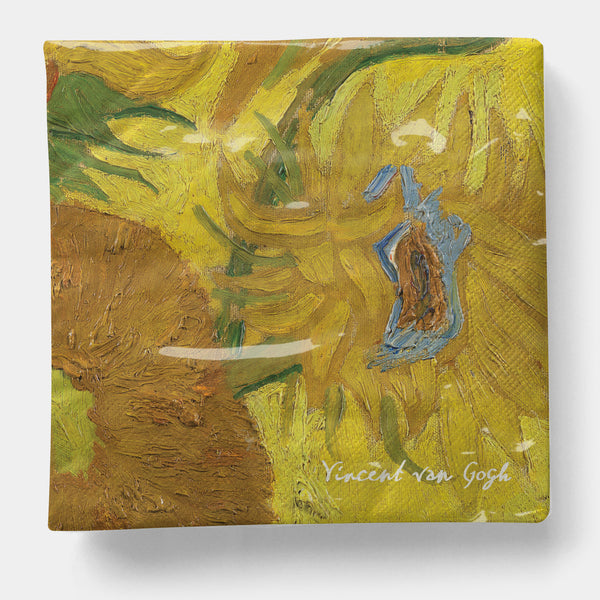 "Van Gogh - Sunflowers Napkin, Luncheon 6.5"" x 6.5"" - 20ct"