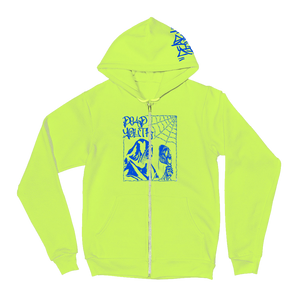 "Dead Youth - ""Graffiti"" Zip-Up Hoodie (Yellow)"