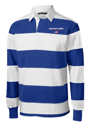 ONE STEP CLOSER - Blue Rugby Polo