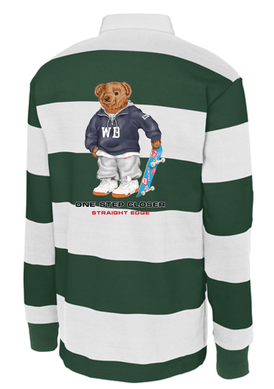 ONE STEP CLOSER - Green Rugby Polo