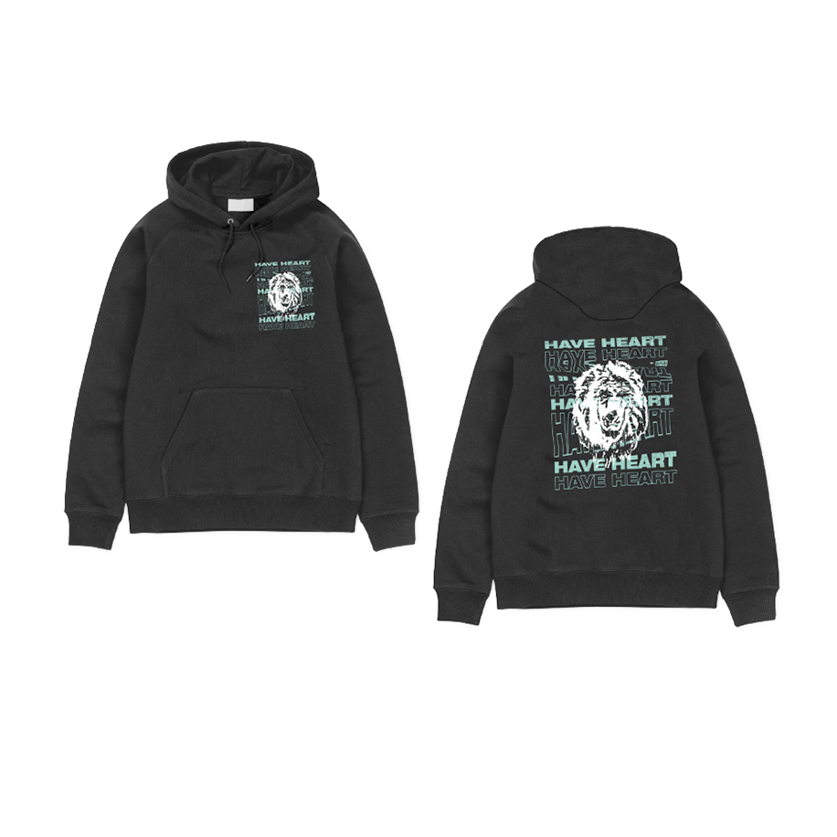 "Have Heart - ""Lion"" Hoodie  - Green on Black"