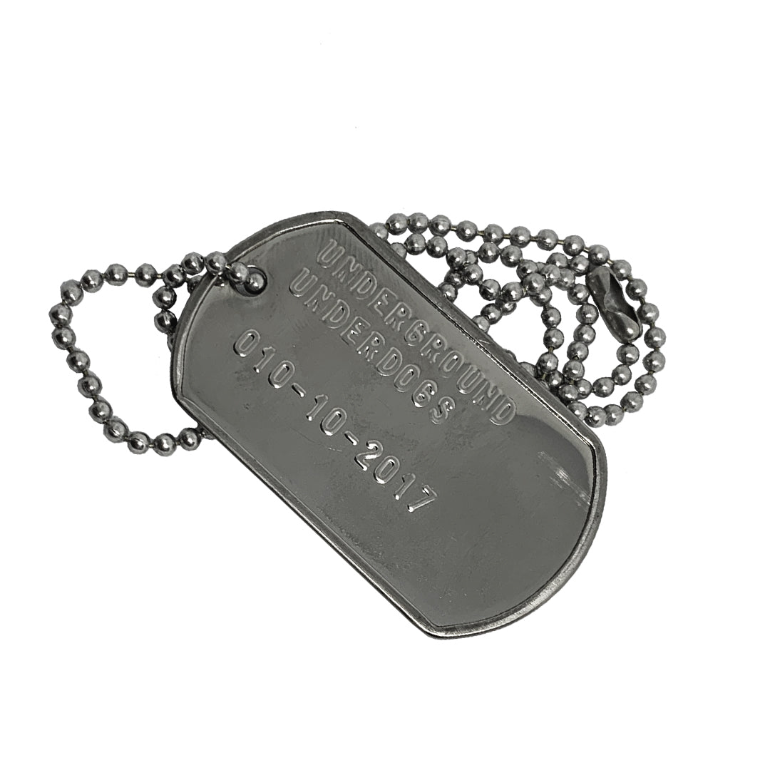 UNDERGROUND UNDERDOGS - UU Dog Tags