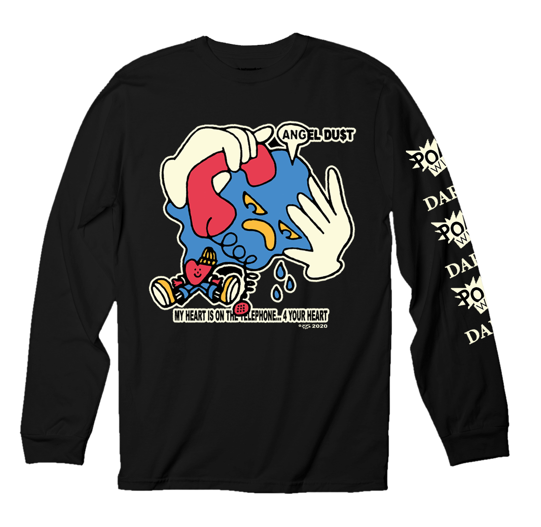 ANGEL DU$T - My Heart On The Telephone Long Sleeve T-Shirt
