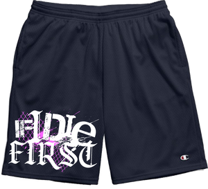 IF I DIE FIRST - Mesh Gym Shorts w/ Leg Print *PREORDER*