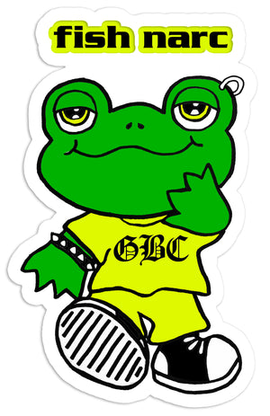 FISH NARC - Money Frog Sticker