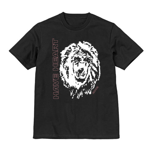 "Have Heart - ""Lion"" T-Shirt  - Pink on Black"