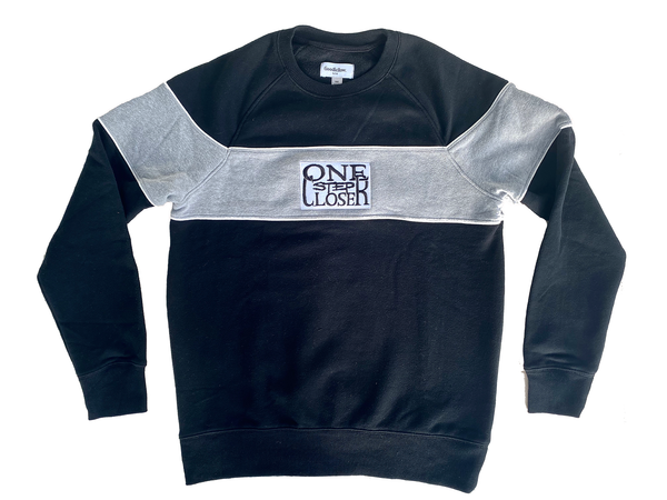 ONE STEP CLOSER - Black Crewneck