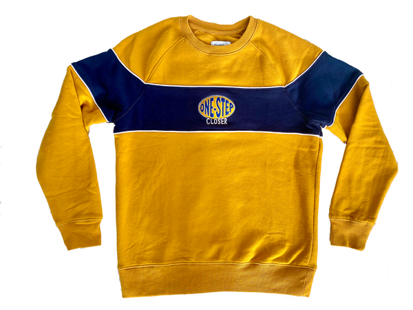 ONE STEP CLOSER - Gold Crewneck