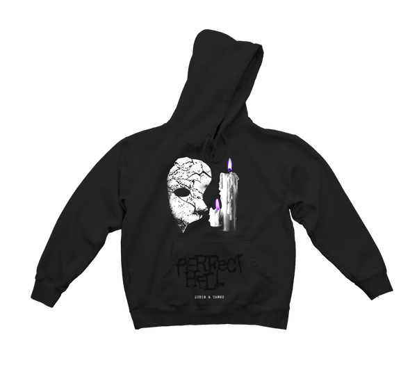 Zubin x Yawns - Perfect Hell Hooded Sweatshirt (Black) *PREORDER*