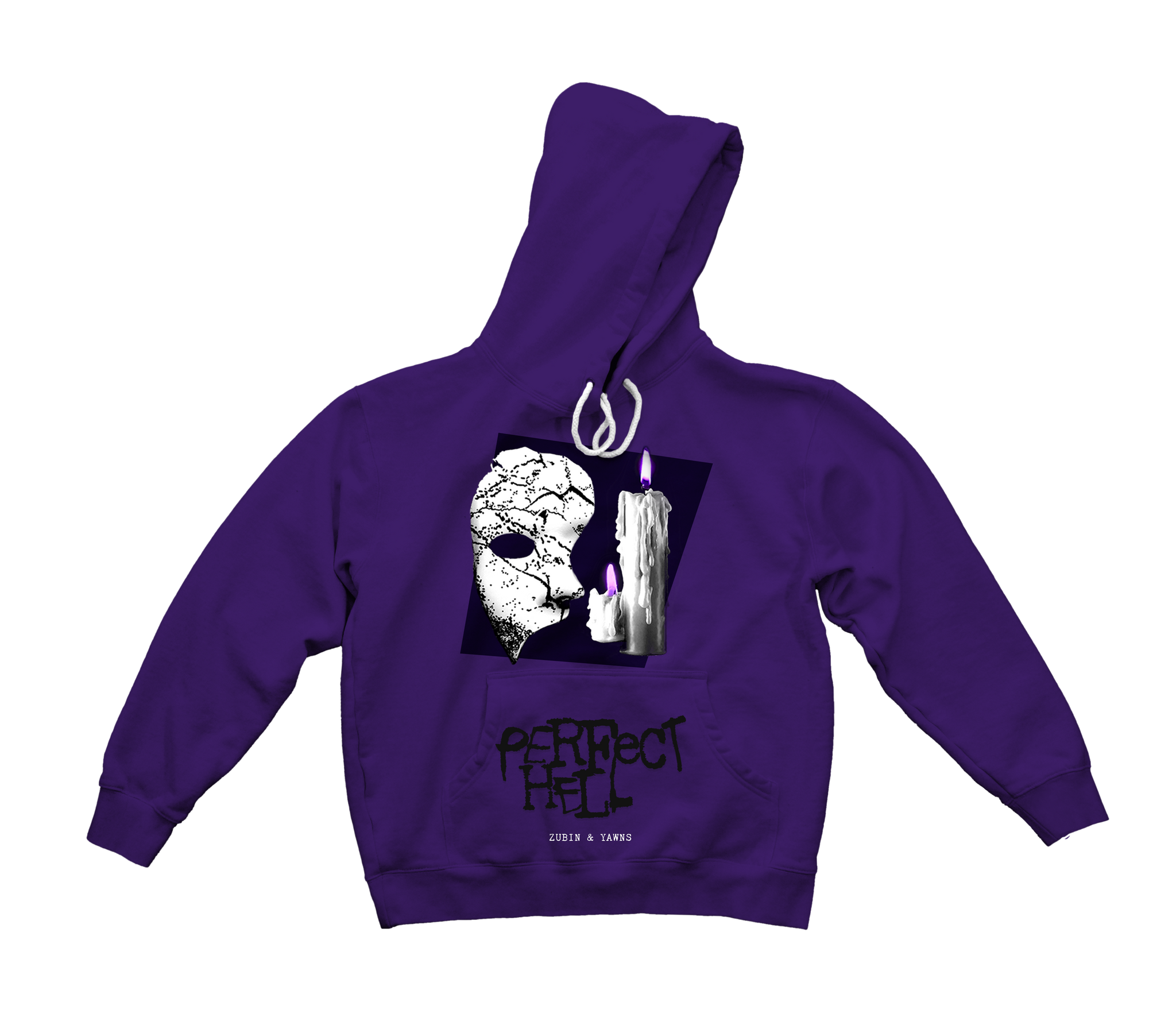 Zubin x Yawns - Perfect Hell Hooded Sweatshirt (Purple) *PREORDER*