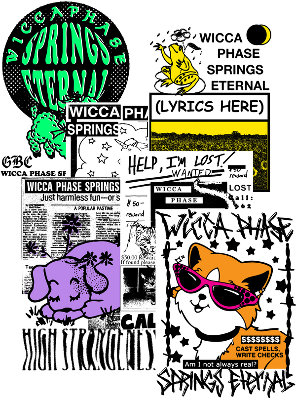 WICCA PHASE SPRINGS ETERNAL - Sticker Bundle 2