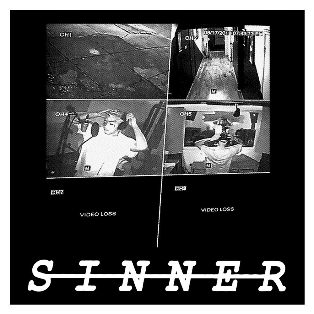 "LIL TRACY - ""Sinner"" (B/W) Hooded Sweatshirt"