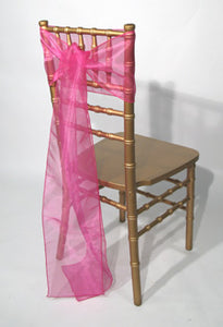 Fuschia Organza Sashes
