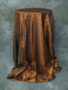 "Copper 4"" Pintuck Taffeta Tablecloth"