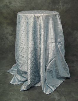 Light Blue Pintuck Taffeta
