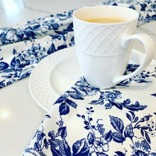 Load image into Gallery viewer, Blue French Toile Printed Napkins