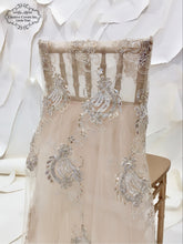 Load image into Gallery viewer, Champagne Hannah Lace Ballerina Chiavari Cover
