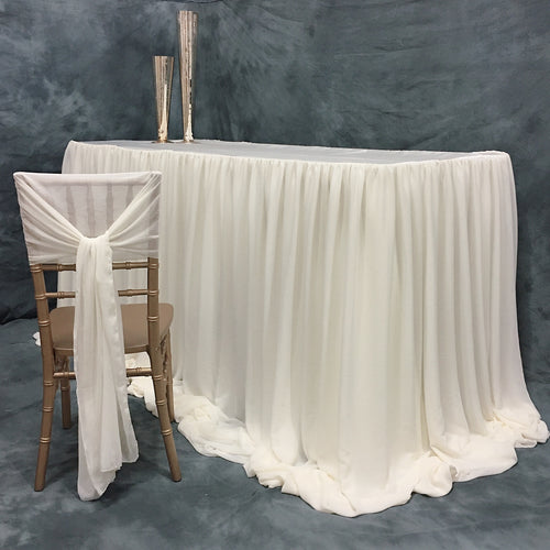 Ivory Chloe Chiffon Headtable