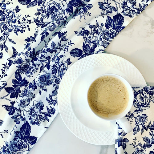 Blue French Toile Printed Napkins