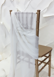Ivory Oversize Chiffon Chair Ties