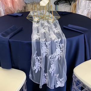 Storm Navy Mystique Matte Satin Tableclothes