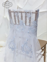 Load image into Gallery viewer, White Hannah Lace Ballerina Chiavari Cover