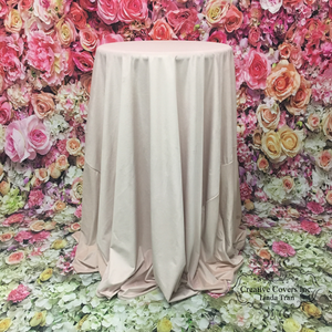 Luxe Velvet Tablecloth Blush