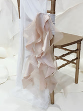 Load image into Gallery viewer, Champagne Satin & Organza Ruffles